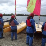 Scouts getting ready to sail